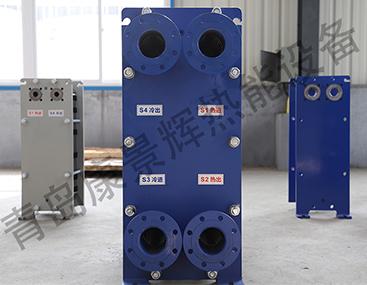 河南某化工厂订购的板式热交换器验收成功